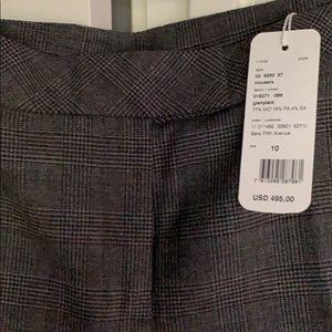 Akris Punto Grey & Black Herringbone Pants